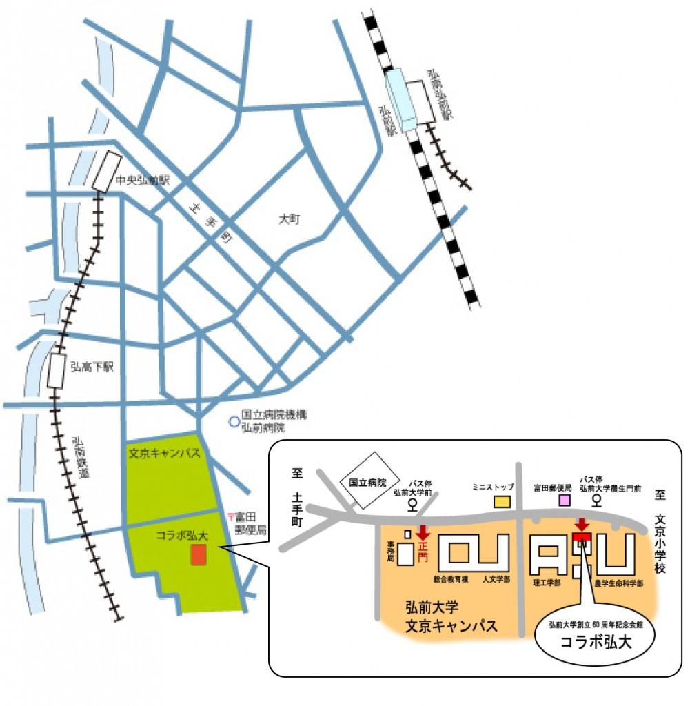 コラボ弘大の地図