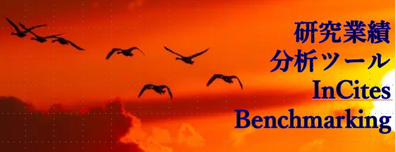 バナー:InCites Benchmarking:研究業績分析ツール